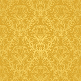 Fototapety Luxury seamless golden floral wallpaper