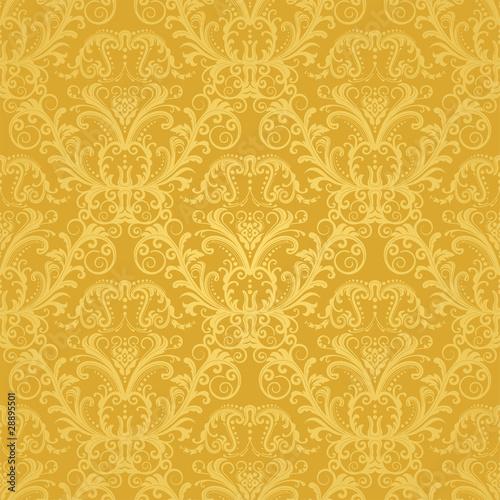Luksusowe bezszwowe złote tapety kwiatu