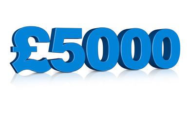 3D £5000 Pounds