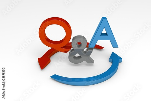 Illustration: Q&A Symbol