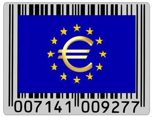 EU european union euro money currency barcode