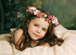 Elegant portrait of gorgeous young girl