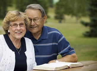 Senior Couple With Their Bible