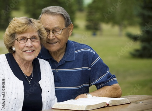 Senior Couple With Their Bible