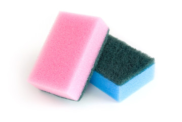Utensil cleaning sponges