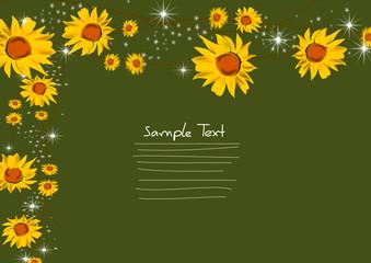 Sonnenblumen Glückwunschkarte