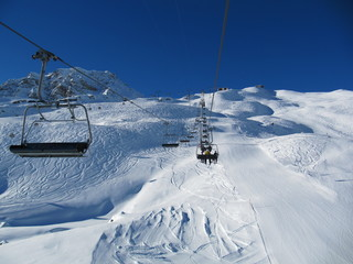 Winter resort Arosa Switzerland