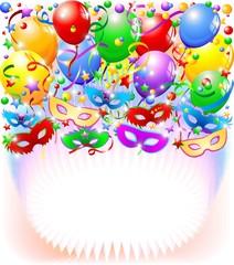 Festa in Maschera Sfondo-Carnival Party Background-Vector