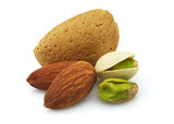 Almonds and pistachio