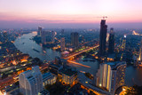 Fototapety Bangkok coucher de soleil nuit