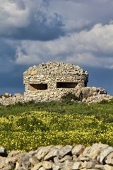 Italy, Sicily, countryside, second world war german bunker