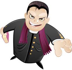 cartoon priester pastor pfarrer comic