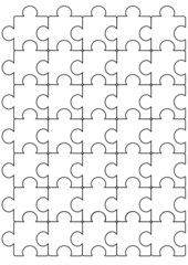 Puzzle black and white pattern vector template design