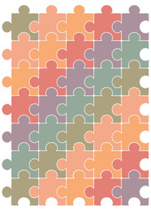 Puzzle pattern vector template design.
