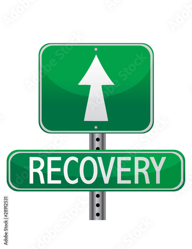 recovery street sign