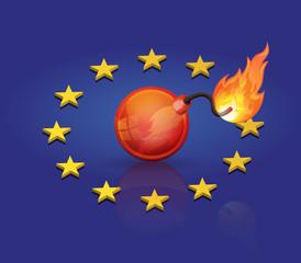 explosion de l'europe