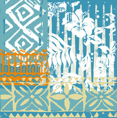 hawaiian pattern patchwork