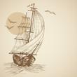 Vintage sailboat - 28916357