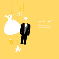 Hanging Wedding Symbols Gold
