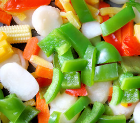 Fresh Healthy Veggies Cut Up And Ready For Cooking