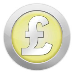 "Light Colored Icon (Yellow) ""British Pound"""