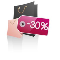 Symbole vectoriel glossy -30% 04
