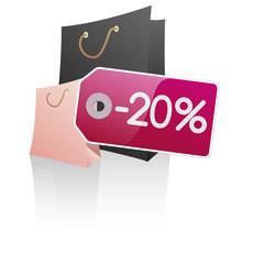 Symbole vectoriel glossy -20% 04