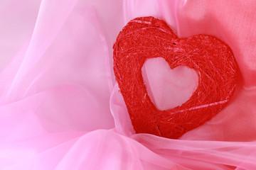 coeur , fond rose