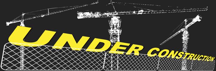 "Große Baustelle nachts ""under construction"""