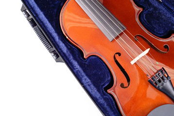 Violin in Blue Velvet Case with Custom Space