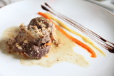 Veal hock stew on plate Jaen Spain