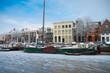 Leinwanddruck Bild - boats in canal