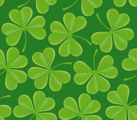 Saint Patrick's day seamless trefoil shamrock texture
