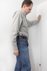 Finding vertical using plumbline