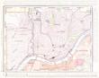Detailed Antique Color Street City Map of Cincinnati, Ohio, USA