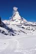 Hiking Way at Matterhorn Region