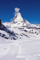 Hiking Way at Matterhorn Region