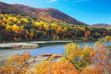 Fototapety Autumn Mountain with lake