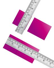 cortar y medir regla metalica