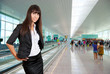 Young business woman in airport