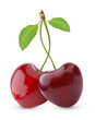 Pair of heart-shaped sweet cherries