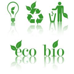set eco icons