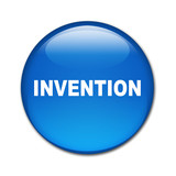 Boton brillante texto INVENTION poster