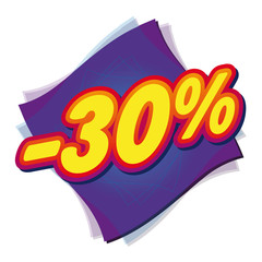 Soldes promotions remises prix vente commerce promo 30%