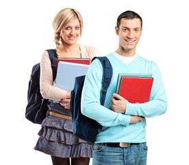A couple of student holding books