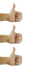 three thumbs up