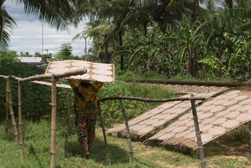 galettes de manioc au sechage