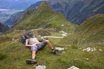 Wanderer beim Schlafen