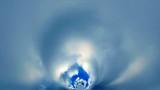 Running cirrus clouds. Hyper Tiling. poster