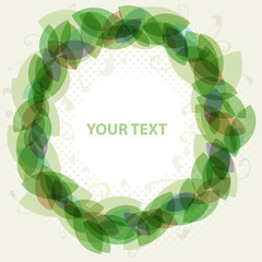 abstract green circle frame